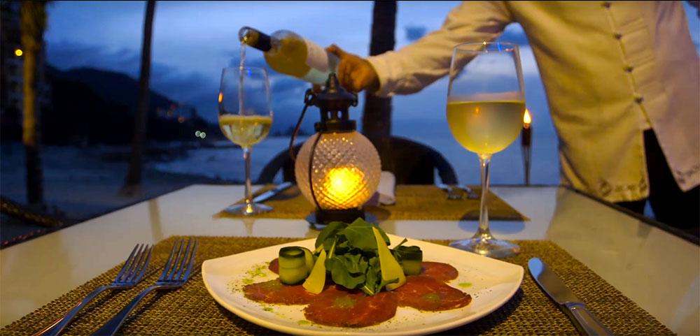 Cena Gourmet en Garza Blanca Puerto Vallarta