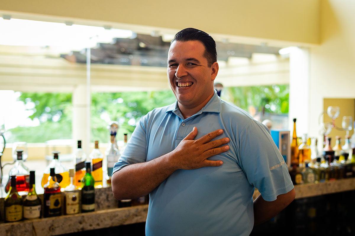 Garza Blanca's Pedro Palomera Pichardo Bartender