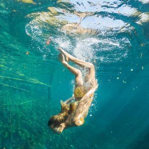 swimming in cenotes