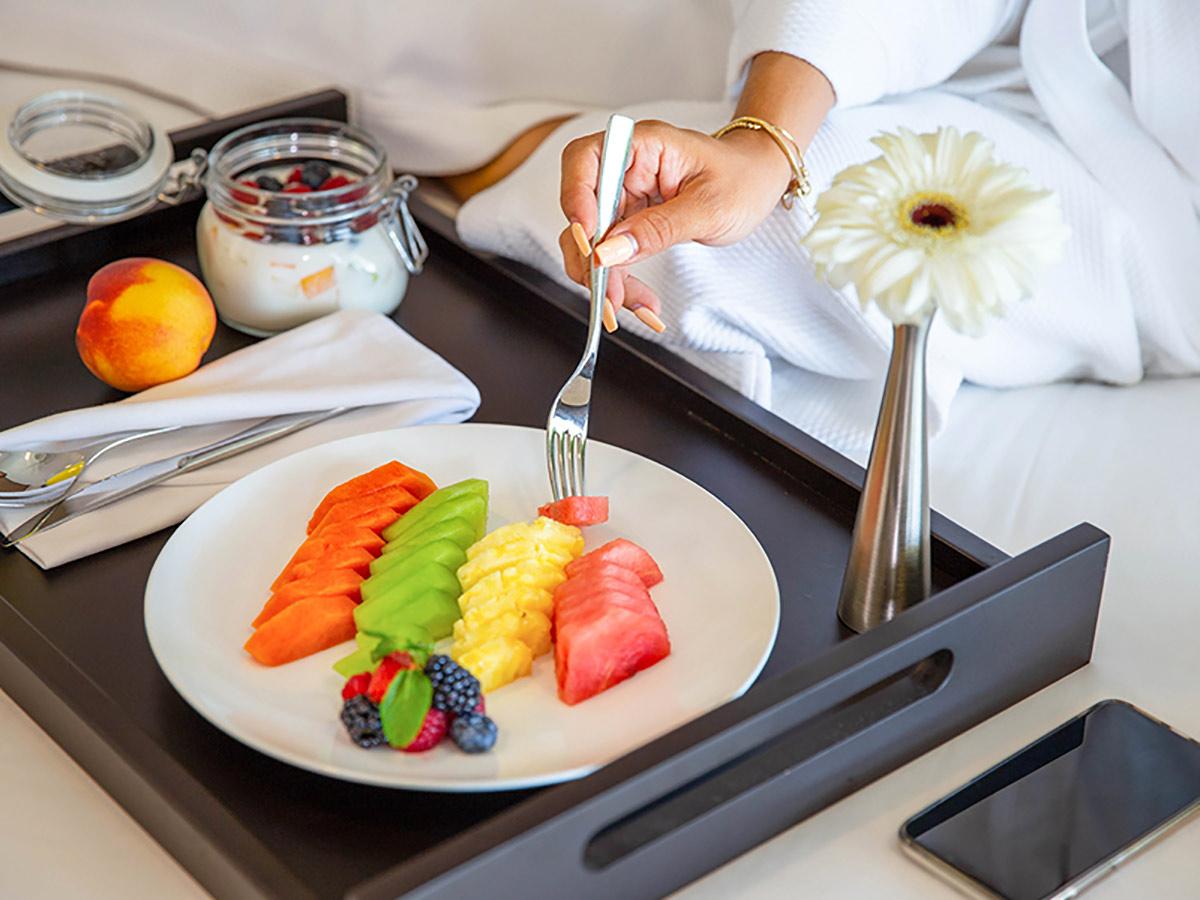 room service at garza blanca